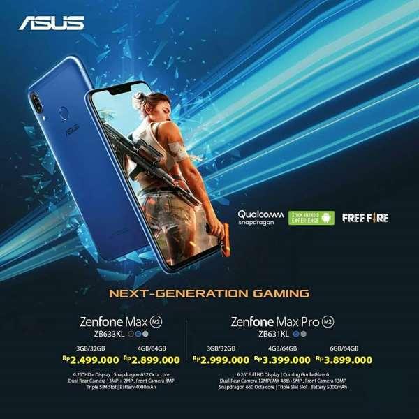 ASUS Resmi Hadirkan Zenfone Max M2 dan Zenfone Max Pro M2
